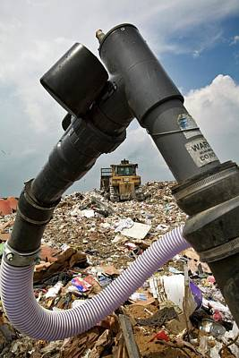 Landfill Gas Recovery Well Art Print by Jim West