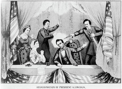 Republican Painting - Lincoln Assassination by Granger