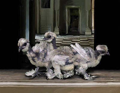 Digital Art - 15. Lizard Chicks by Sigrid Van Dort