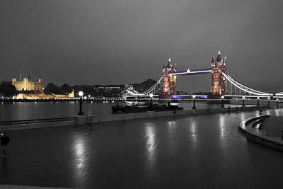 Photograph - London Thames Bridges  by David French