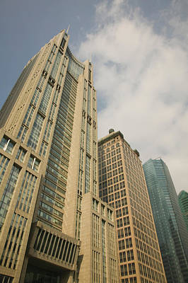 Low Angle View Of Skyscrapers Art Print by Panoramic Images