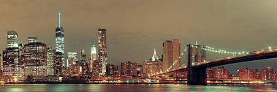 Photograph - Manhattan Downtown by Songquan Deng