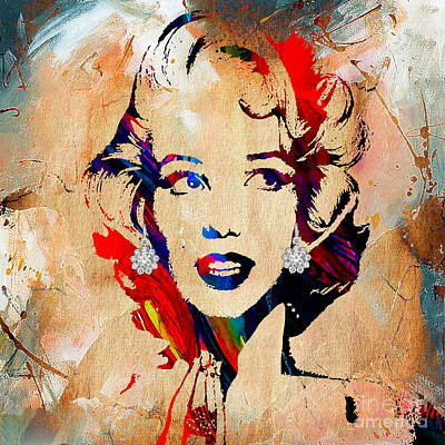 Celebrity Mixed Media - Marilyn Monroe Diamond Earring Collection by Marvin Blaine