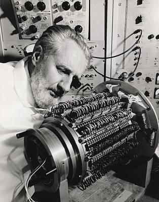 Memories Series Photograph - 15 Million Bit Memory Drum by Underwood Archives