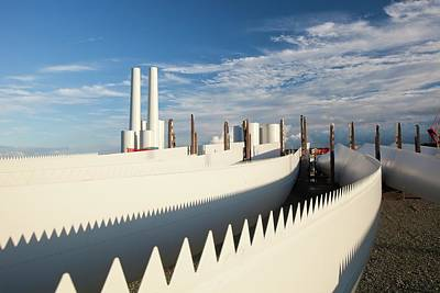 Aerodynamics Photograph - Parts For The Walney Offshore Wind Farm by Ashley Cooper