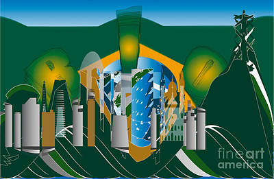Abstract Skyline Royalty-Free and Rights-Managed Images - Rio de Janeiro skyline by Michal Boubin