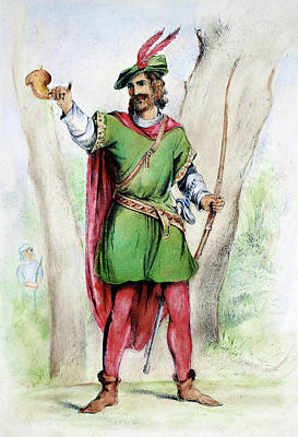 Character Portraits Painting - Robin Hood by Granger