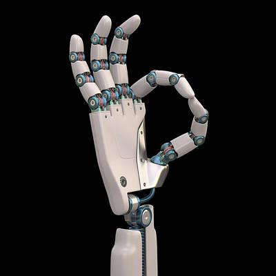 Robotic Hand Art Print