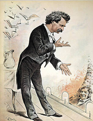 Pitcher Painting - Samuel Langhorne Clemens (1835-1910) by Granger