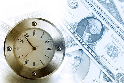 Time Is Money  Art Print by Les Cunliffe