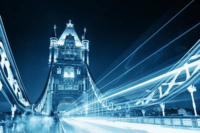 Photograph - Tower Bridge At Night by Songquan Deng
