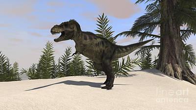 Tyrannosaurus Rex Digital Art - Tyrannosaurus Rex Hunting For Its Next by Kostyantyn Ivanyshen
