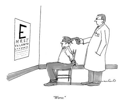 Eye Chart Drawing - Worse by Michael Crawford
