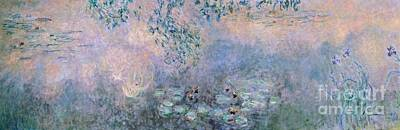Deep River Painting - Water Lilies by Claude Monet