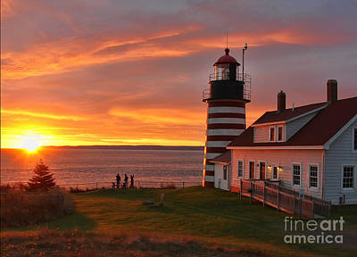 West Quoddy Head Lighthouse Photograph - West Quoddy Head Lighthouse 3745 by Jack Schultz