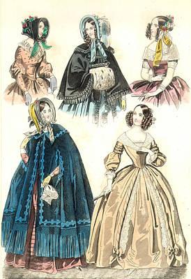 Women's Fashion, 1842 Art Print by Granger