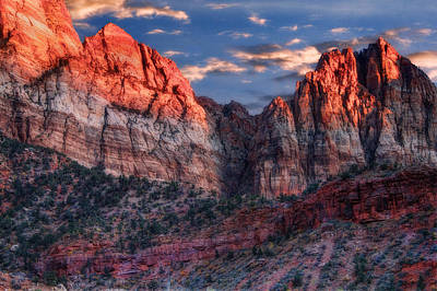 Slickrock Photograph - Zion National Park Utah by Utah Images
