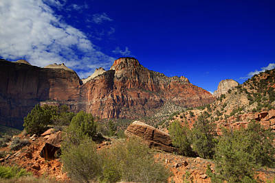 Photograph - Zion Park Utah Usa by Richard Wiggins