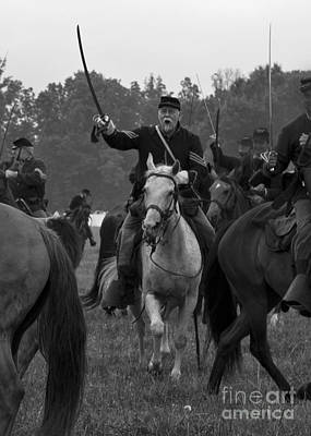 Photograph - 150 Civil War Reenactment Of The Battle Of Trevilian Station by Jonathan Whichard