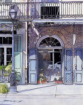 French Quarter. City Scene Drawing - 150 by John Boles