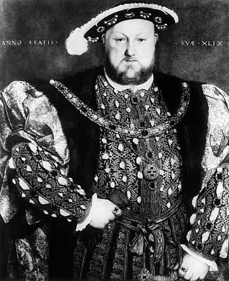 Vintage Camera Painting - 1500s 1540 Portrait Of King Henry Viii by Vintage Images