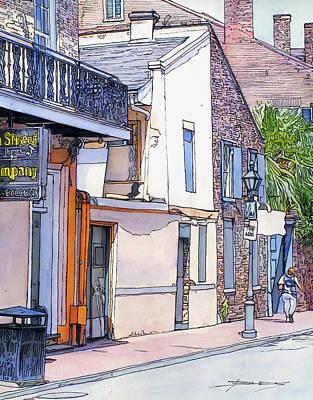 French Quarter. City Scene Drawing - 153 by John Boles