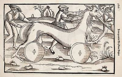 1532 A War Machine In The Form Of A Horse Art Print