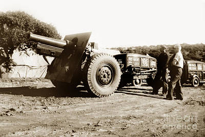 Photograph - 155mm Field Artillery Camp Ord Army Base California Circa 1940 by California Views Mr Pat Hathaway Archives