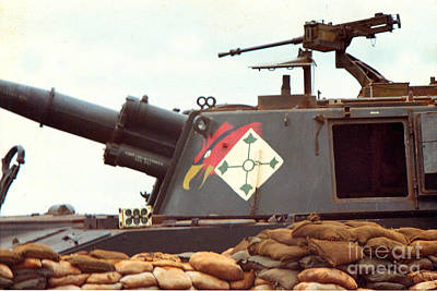 Photograph - 155mm M 109 5/16th Field Artillery Central Highlands Vietnam 1968 by California Views Archives Mr Pat Hathaway Archives