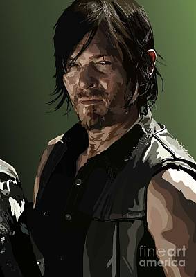 Walking Dead Digital Art - 156.  Only Got So Many Arrows. by Tam Hazlewood