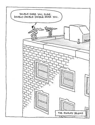 Jump Drawing - New Yorker August 11th, 2008 by Jack Ziegler