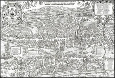 1576 Zurich Switzerland Map Print by Daniel Hagerman