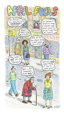New Yorker April 2nd, 2007 Art Print by Roz Chast