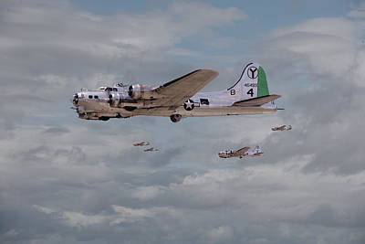 B17 Photograph - 15th A F - B17s In Italy by Pat Speirs