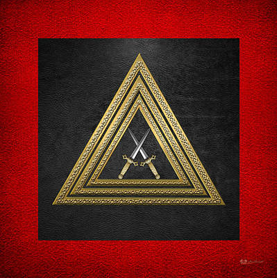 Digital Art - 15th Degree Mason - Knight Of The East Masonic Jewel  by Serge Averbukh