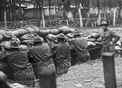 1918 Photograph - 15th Regiment Rifle Training by Underwood Archives