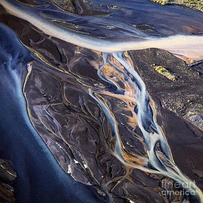 Colors Photograph - Aerial Photo by Gunnar Orn Arnason