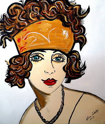 Art Deco  Hilda Art Print by Nora Shepley