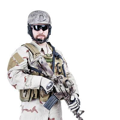 Photograph - Bearded Special Warfare Operator by Oleg Zabielin