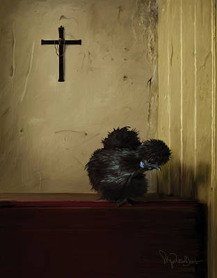 16. Black Silkie Art Print