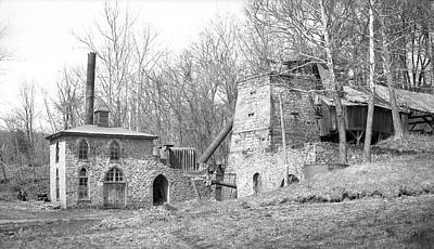 Blast Furnace Print by Hagley Museum And Archive
