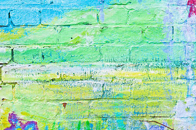 Messy Photograph - Brick Wall by Tom Gowanlock