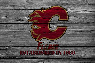 Skate Photograph - Calgary Flames by Joe Hamilton