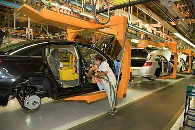 Sebring Photograph - Car Assembly Production Line by Jim West