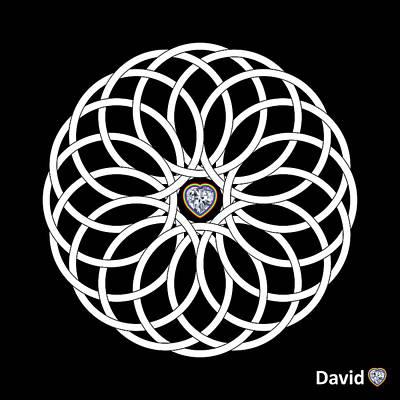 Digital Art - 16 Circles by David Diamondheart