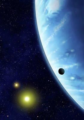 16 Cygni B Planet Art Print by Mark Garlick/science Photo Library