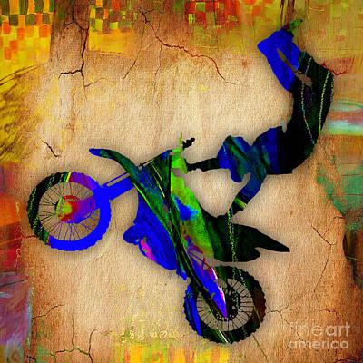 Dirt Bike Art Print by Marvin Blaine