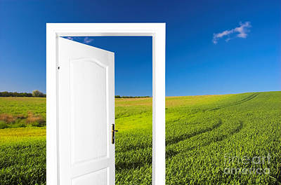 Door Photograph - Door To New World by Michal Bednarek