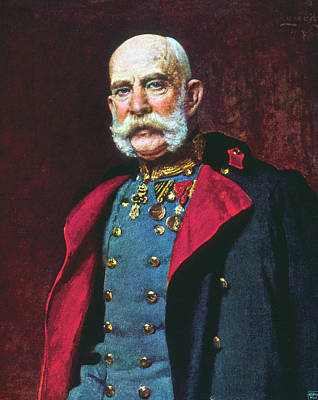 Lapel Painting - Francis Joseph I (1830-1916) by Granger