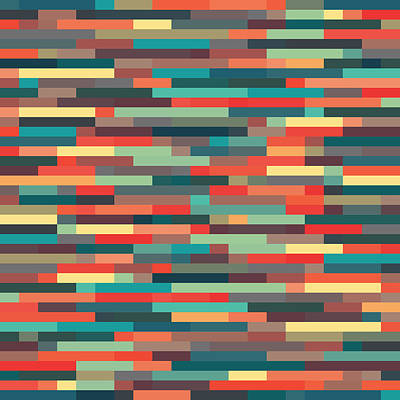 Art Print featuring the digital art Geometric by Mike Taylor
